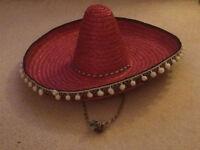 red straw sombrero