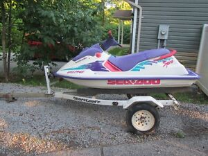 1994 580 SEA DOO WITH TRAILER Kawartha Lakes Peterborough Area image 1