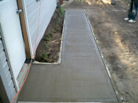 small concrete restoration and placements