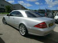 2002 (02) MERCEDES CL500 5.0 Auto Silver Petrol Coupe Leather Cruise Climate FSH