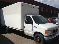 2007 FORD E450 CUBE VAN, DIESEL, LOW KM, GOOD CONDITION