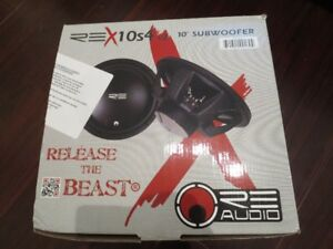 Re Audio REXv2-10S4 10 inch subwoofer. 4 ohm