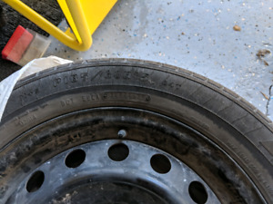 """15"""" Steel Rims with Summer Tires"""