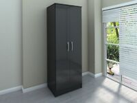black gloss wardrobes 5 months old in vgc x2 4 doors