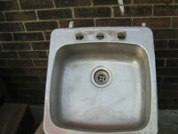 PVC IPEX PIPES-TWO, STAINSLESS SINK AND LAUNDRY SINK