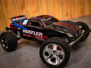 Upgraded Traxxas Rustler VXL w/ Extras