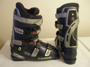 Downhill Ski Boots Lange X7, mondo 27, men 9, Ladies 10
