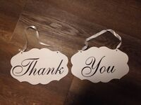 Chair signs for wedding