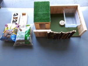 Maison de lapin et accessoires