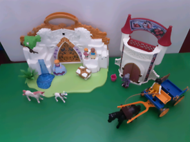 Playmobil fantasy castle. Tower , and horse & cart.