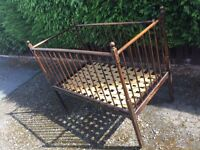 Victorian 150 Year Old Baby Child Vintage Antique Bed Cot - CAN DELIVER