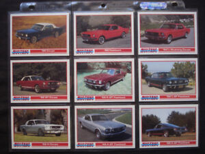 1992 PYQCC *MUSTANG CARDS* COMPLETE CARD SET 110 +9 SHELBY + SP1