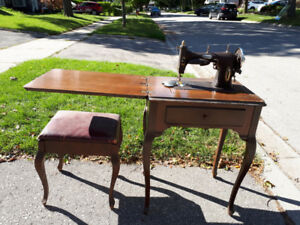 sewing machine with chair