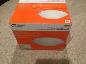 16 Inch Brand New Pewter Flush Mount Lights (2 pack)
