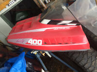 Snowmobile parts and trailer for sale