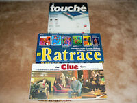 Trivial Pursuit, Ratrace, Clue, Probe and Touche Board Games