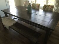 Barn Style Wood Kitchen Table
