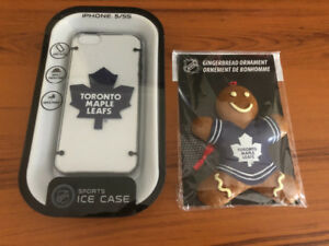 Toronto Maple Leafs IPhone 5/5S Case + Gingerbread Ornament. NEW