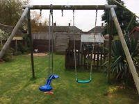 Tp wooden swing frame/swing/skyride