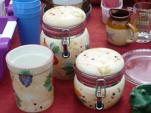 Kitchen Counter Top Jars and Utensil Top Holder