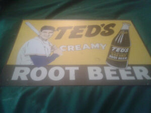 Replica Ted's Rootbeer metal sign