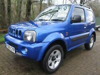 05/05 SUZUKI JIMNY 1.3 JLX 3DR 4X4 IN MET BLUE WITH ONLY 74,000 MILES