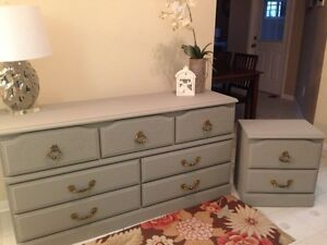 Refinished Dresser and Night Table