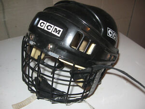 junior ccm hockey helmet with facemask
