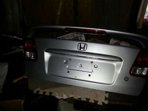 Trunk Lid for 2005 Honda Civic with Lights Silver w Spoiler