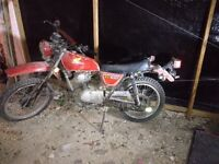 Honda XL 100 bike