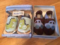 2 x Boys 0-6 months baby pram shoes