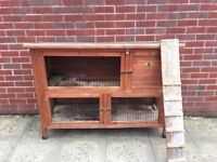 Large rabbit /Guinea pig double hutch
