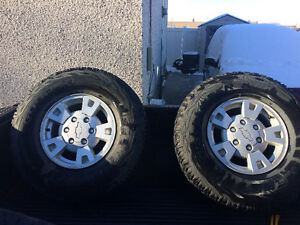 Truck tires with alloy rims