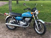 Suzuki GT250 1976 Showing Only 70 Miles Classic Japanese Motorcycle!