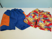 Two child's bathing suits