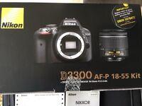 Nikon D3300 AF-P 18-55 kit Brand New with warranty 24 mega pixles