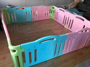 Ifam Deluxe Baby Playpen, 8 Panels (2.15m x 2.15m x 0.65m)