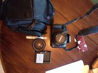 Canon t1i dslr with 2lens and a fish eye attachment