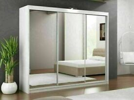 🔵💖SUPERB QUALITY🔵🔴LUX 3 SLIDING DOORS WARDROBE IN 250CM SIZE & IN MULTI COLORS-CALL NOW...