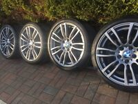 "Genuine BMW 3 4 Series 19"" 403 M Sport alloy wheels and run flat tyres F30 F31 F32 F33"