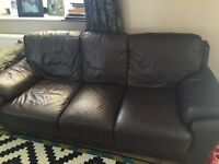 Genuine leather two and three seater sofa