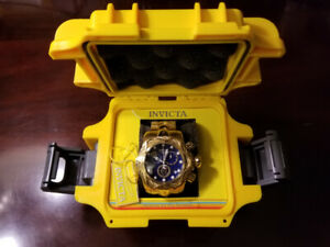 Invicta Reserve 52mm Venom Bolt Swiss Chronograph 18K Gold plate