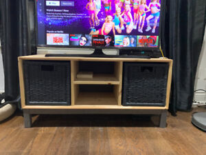 IKEA TV Cabinet Raw Timber with Draws