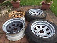 5x120 weller steel wheels, deep dish, euro, rat, concave, BMW