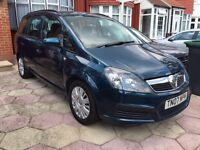 Vauxhall ZAFIRA 2007 Auto. 7 SEATER MOT TAX. FAMILY OWNED Pco And Uber Ready