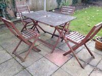 Wooden Garden Furniture 4 Seater Set