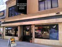 TURNKEY BUILDING FOR SALE - RESTAURANT w/PATIO & TWO APARTMENTS