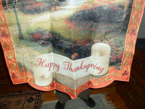 Thomas Kinkade Thanksgiving Flag Kawartha Lakes Peterborough Area image 2