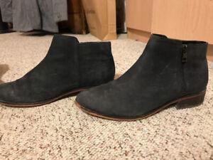 Aldo Black Suede Chelsea Boots