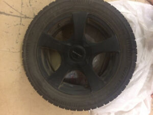 Winter Tires and Core Racing Rims from 2013 Jetta 5×105/112